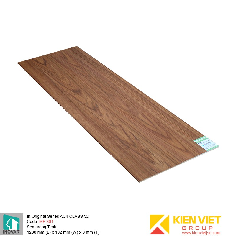 Sàn gỗ Inovar Original Series MF801 Semarang Teak | 8mm
