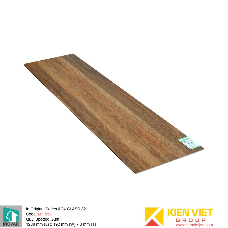 Sàn gỗ Inovar Original Series MF530 QLD Spotted Gum | 8mm