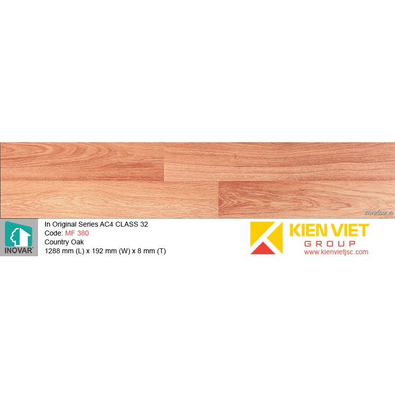Sàn gỗ Inovar Original Series MF 380 Country Oak | 8mm