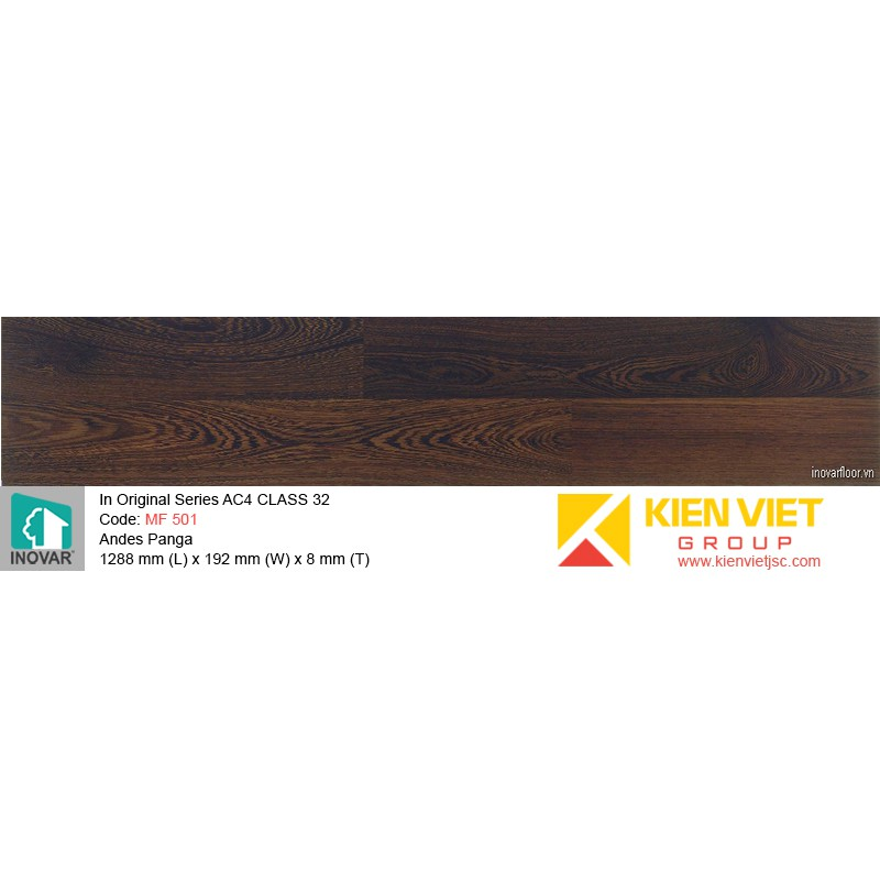 Sàn gỗ Inovar Original Series MF 501 Andes Panga | 8mm