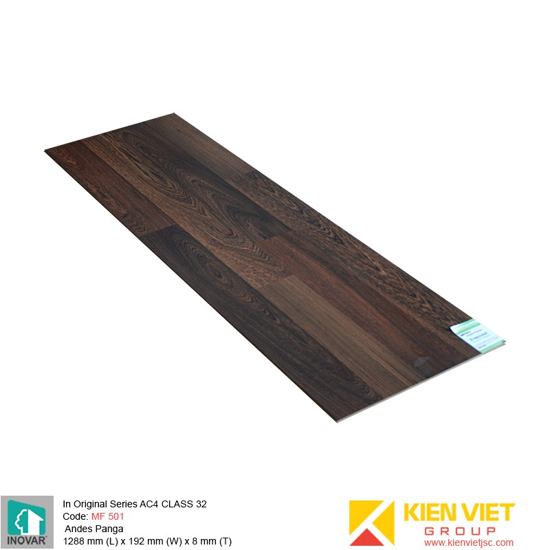 Sàn gỗ Inovar Original Series MF501 Andes Panga | 8mm