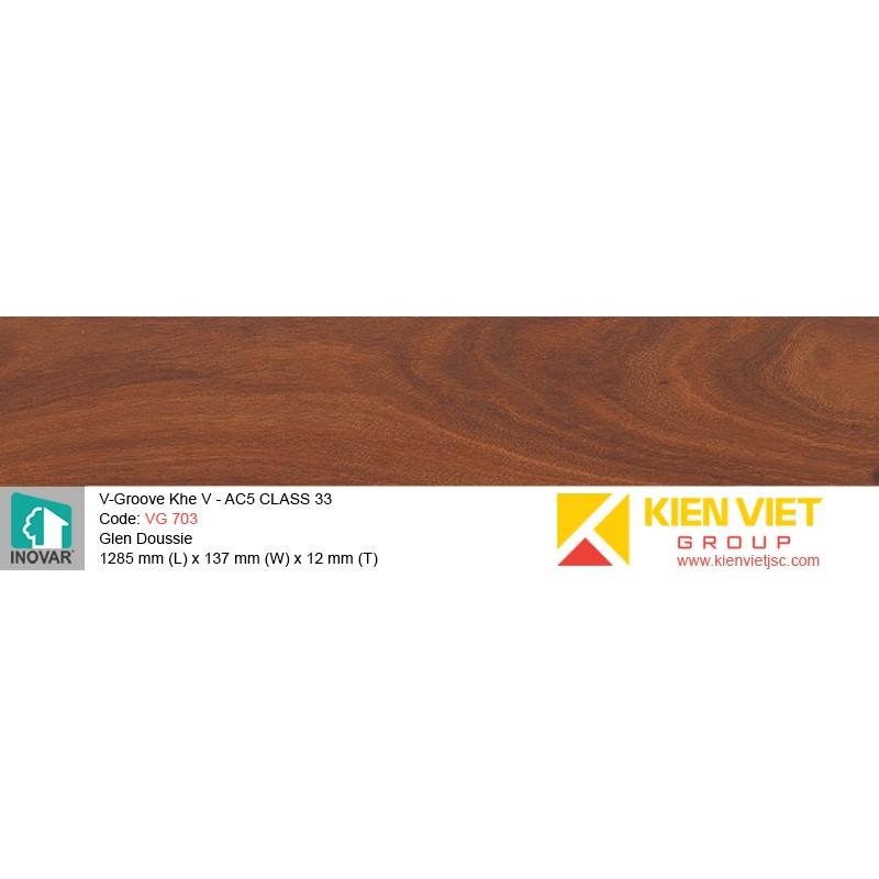 Sàn gỗ Inovar V-Groove VG 703 Glen Doussie | 12mm