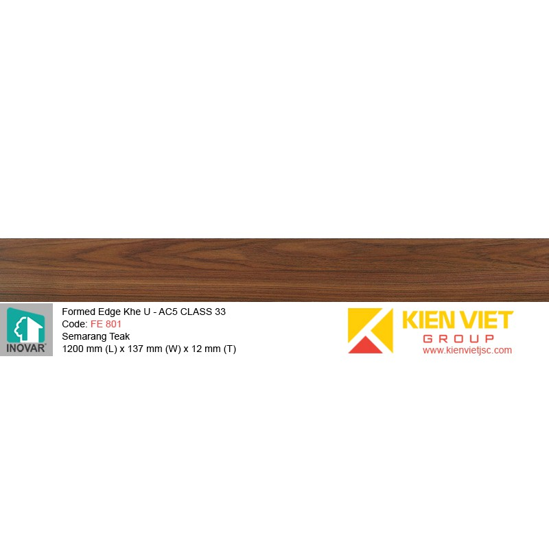 Sàn gỗ Inovar Formed Edge FE801 Semarang Teak | 12mm