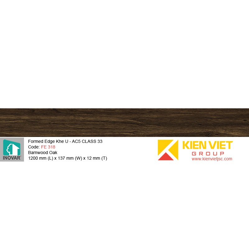 Sàn gỗ Inovar Formed Edge FE318 Barnwood Oak | 12mm