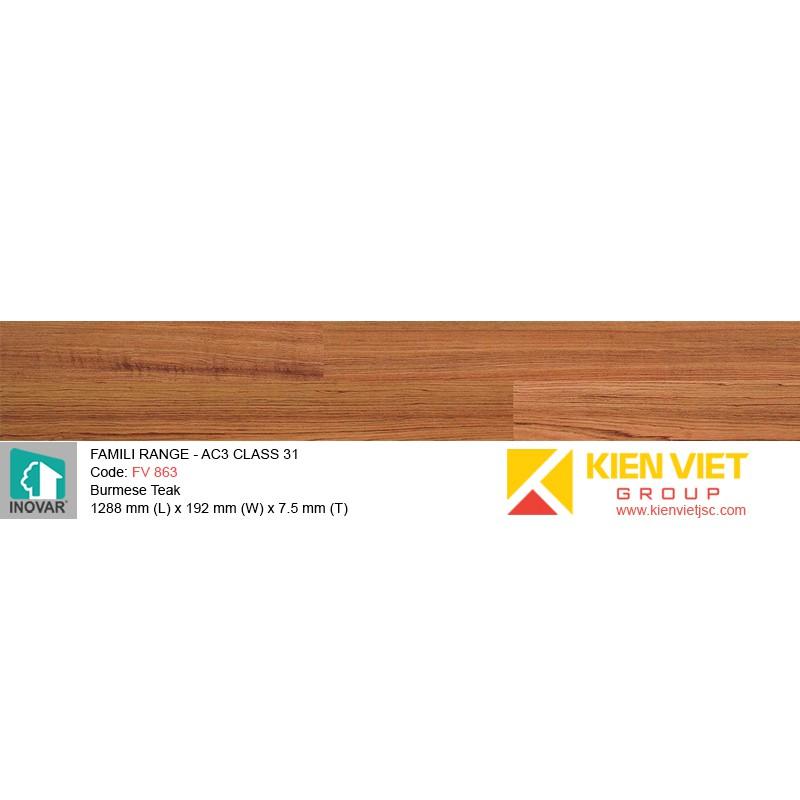 Sàn gỗ Inovar Famili Range FV863 Burmese Teak | 7.5mm