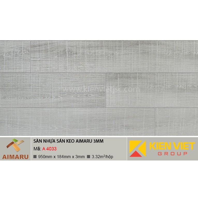 Sàn nhựa dán keo vân gỗ Aimaru A-4033 | 3mm