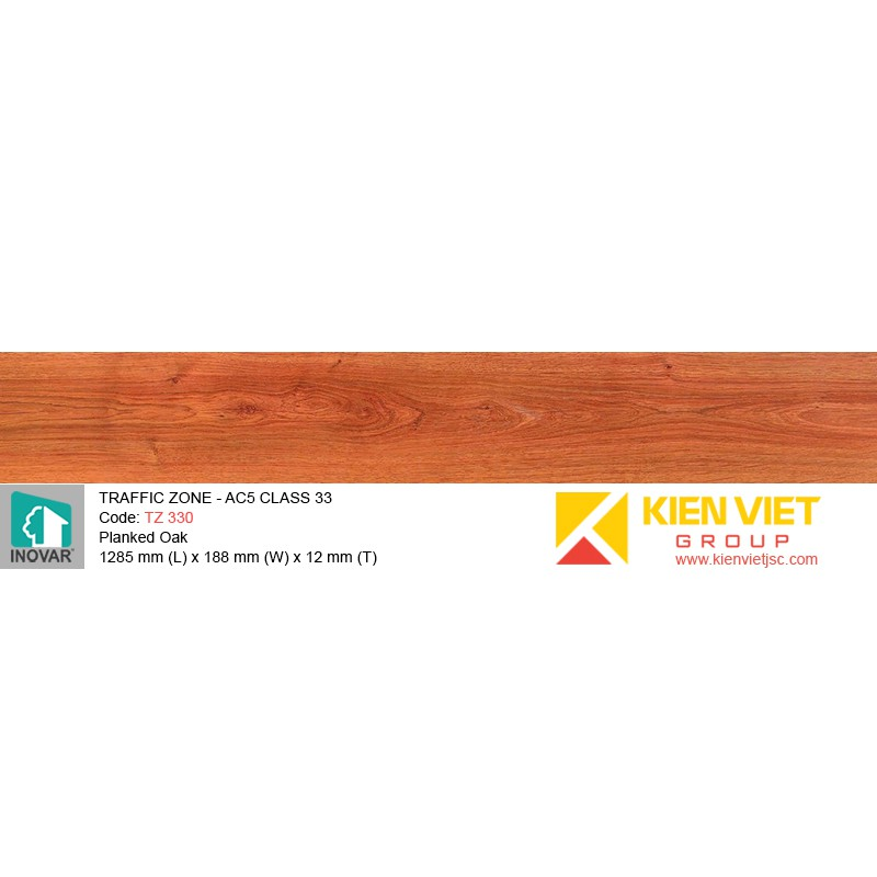 Sàn gỗ Inovar Traffic Zone TZ330 Planked Oak | 12mm