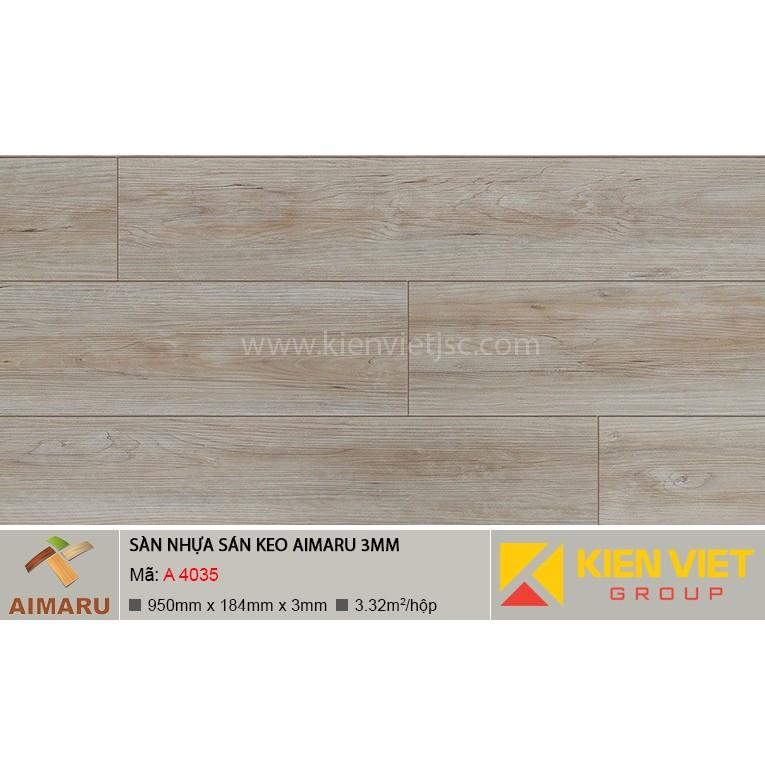 Sàn nhựa dán keo vân gỗ Aimaru A-4035 | 3mm