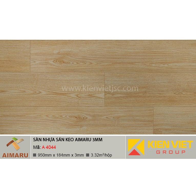 Sàn nhựa dán keo vân gỗ Aimaru A-4044 | 3mm