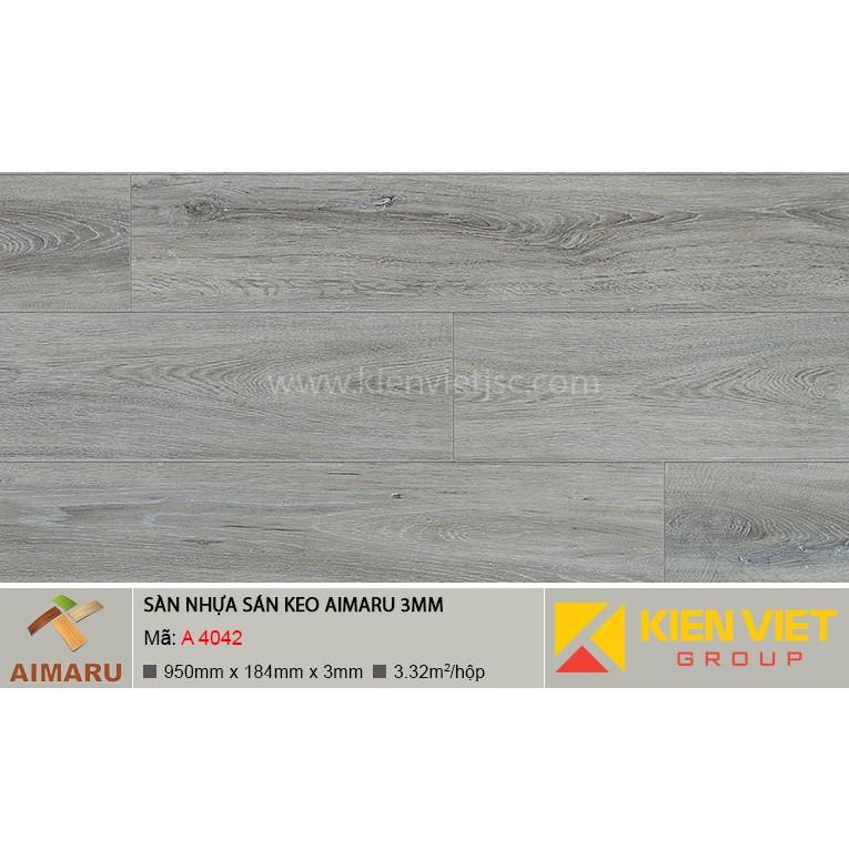 Sàn nhựa dán keo vân gỗ Aimaru A-4042 | 3mm