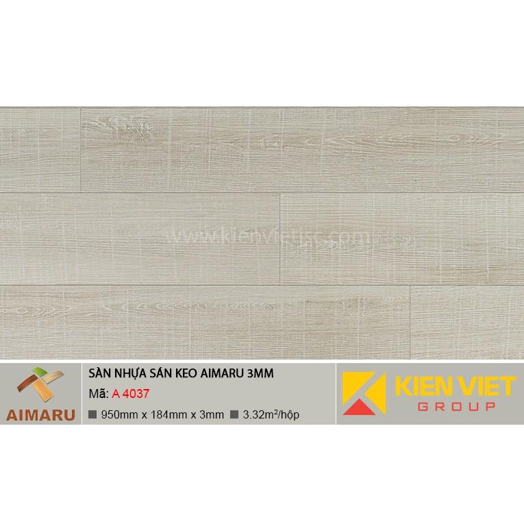 Sàn nhựa dán keo vân gỗ Aimaru A-4037 | 3mm