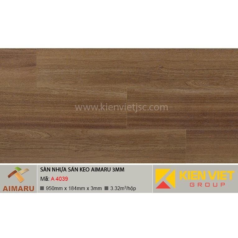 Sàn nhựa dán keo vân gỗ Aimaru A-4039 | 3mm