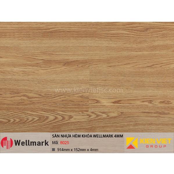 Sàn nhựa hèm khóa WELLMARK 8025 | 4mm