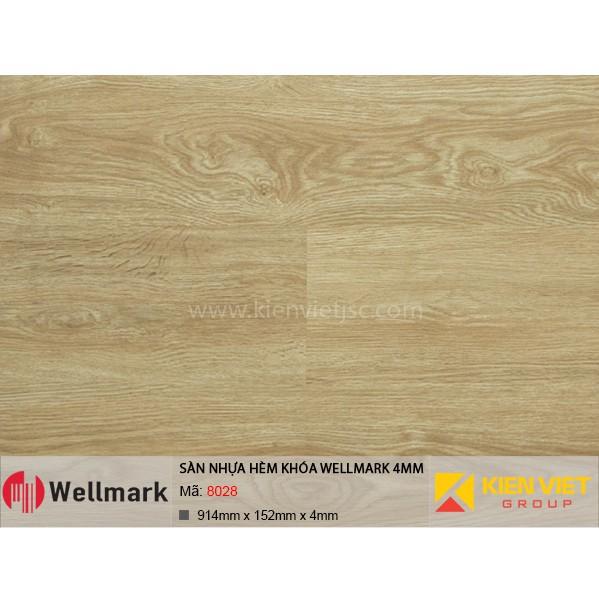 Sàn nhựa hèm khóa WELLMARK 8028 | 4mm
