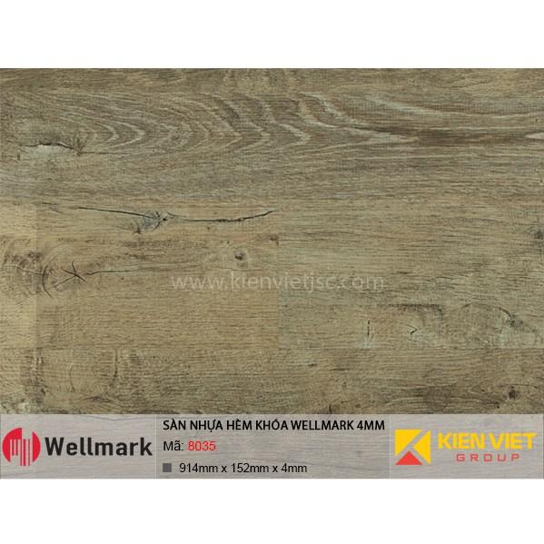 Sàn nhựa hèm khóa WELLMARK 8035 | 4mm