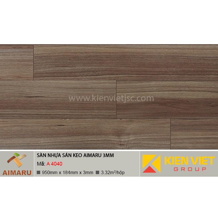 Sàn nhựa dán keo vân gỗ Aimaru A-4040 | 3mm