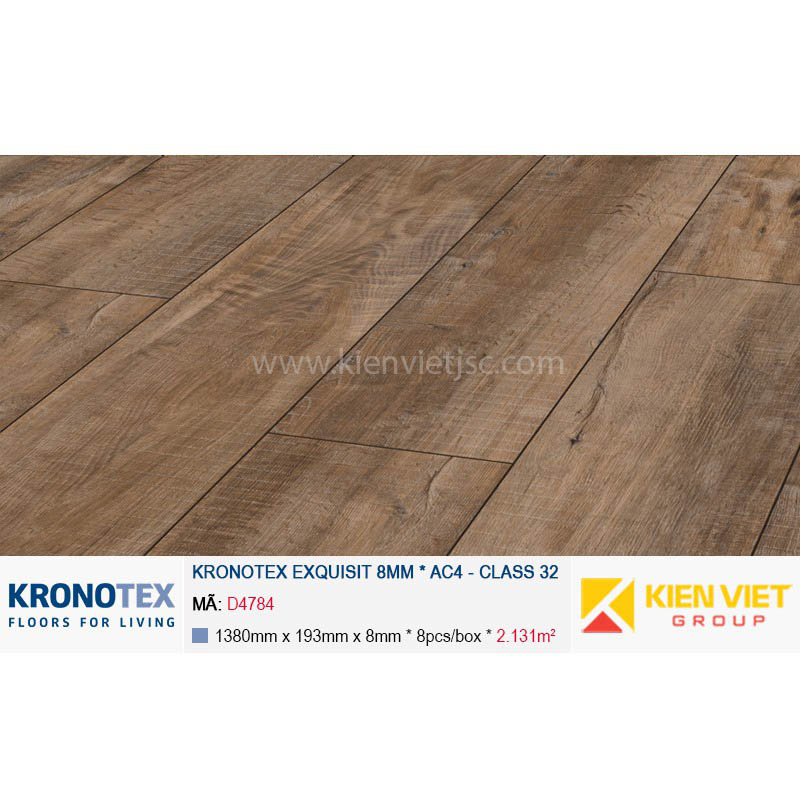 Sàn gỗ Kronotex Exquisit D4784 Gala Oak brown | 8mm