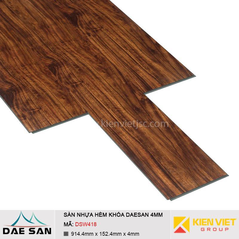 Sàn nhựa hèm khoá Daesan DSW418 | 4mm
