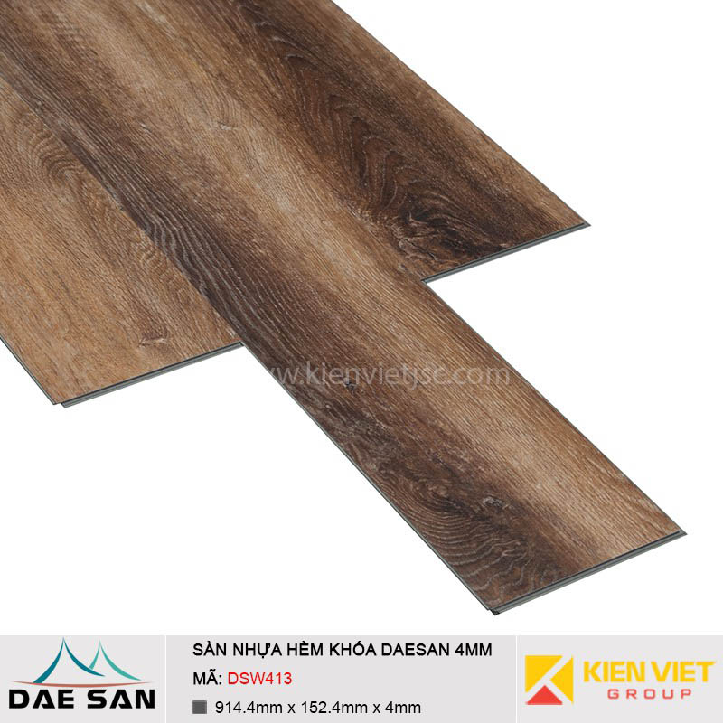 Sàn nhựa hèm khoá Daesan DSW413 | 4mm