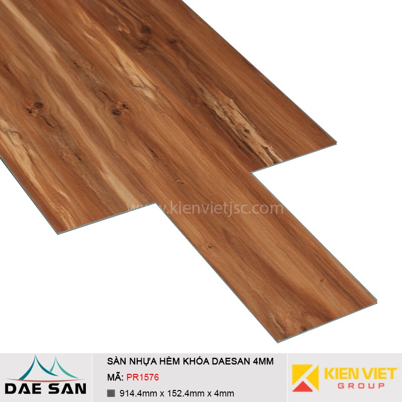 Sàn nhựa hèm khoá Daesan PR1576 | 4mm