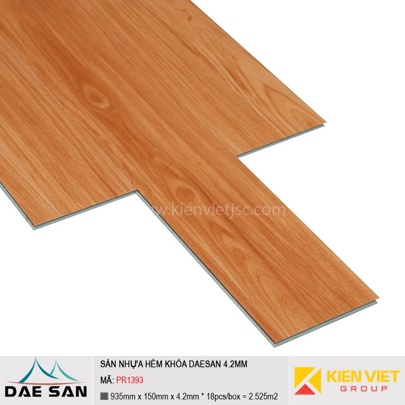 Sàn nhựa hèm khoá Daesan PR1393 | 4.2mm