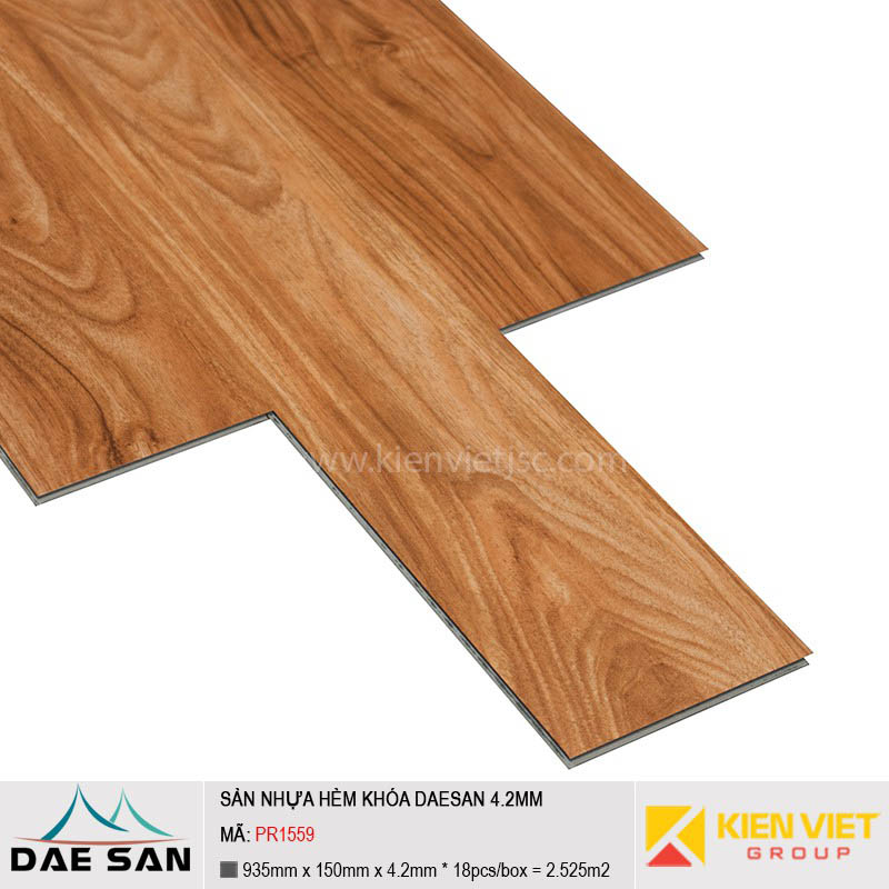 Sàn nhựa hèm khoá Daesan PR1559 | 4.2mm