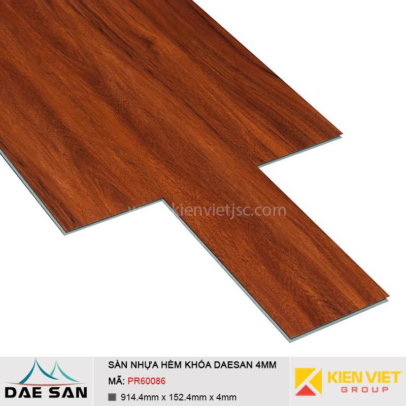 Sàn nhựa hèm khoá Daesan PR60086 | 4mm