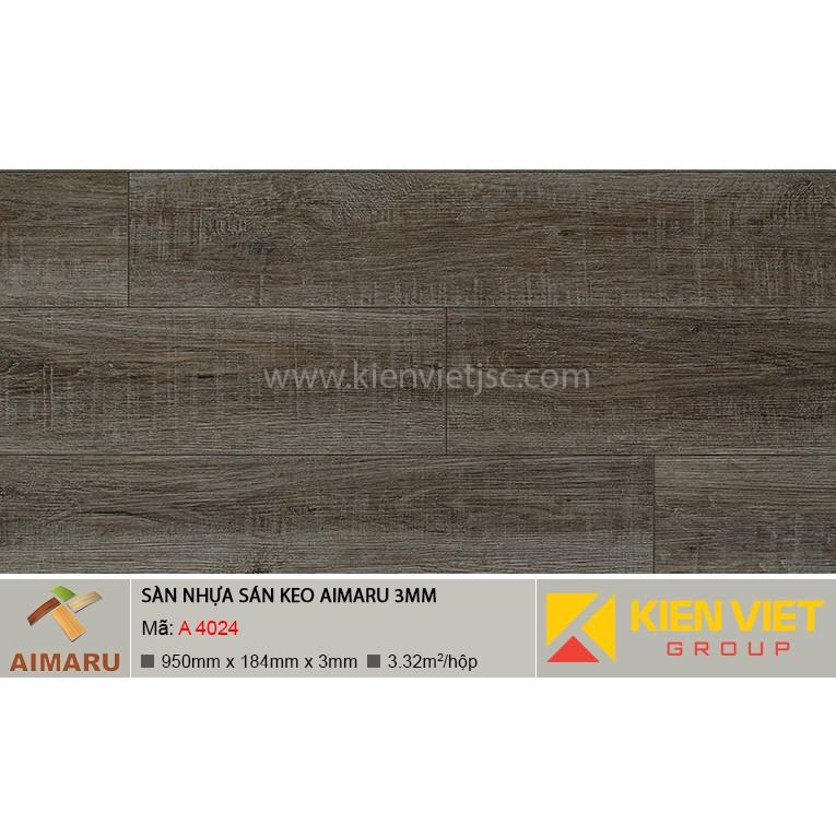 Sàn nhựa dán keo vân gỗ Aimaru A-4024 | 3mm