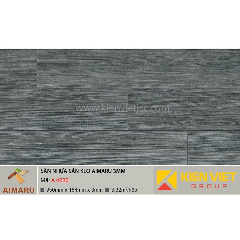 Sàn nhựa dán keo vân gỗ Aimaru A-4030 | 3mm