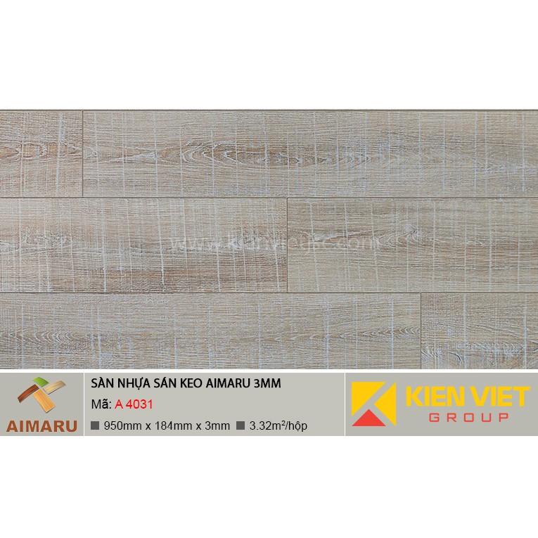 Sàn nhựa dán keo vân gỗ Aimaru A-4031 | 3mm