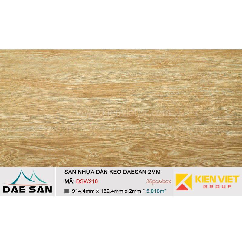 Sàn nhựa dán keo phủ sẵn DAESAN DSW210 | 2mm