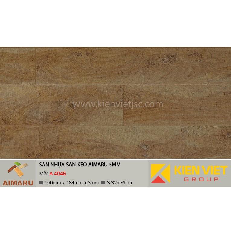 Sàn nhựa dán keo vân gỗ Aimaru A-4046 | 3mm