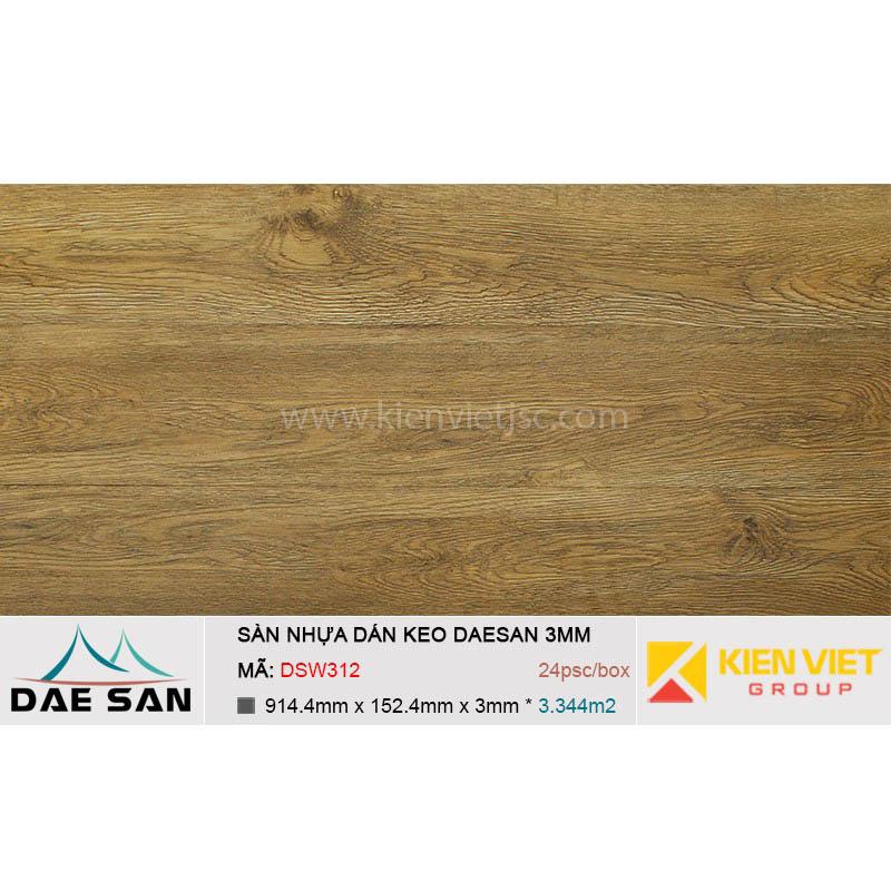 Sàn nhựa dán keo DAESAN DSW312 | 3mm