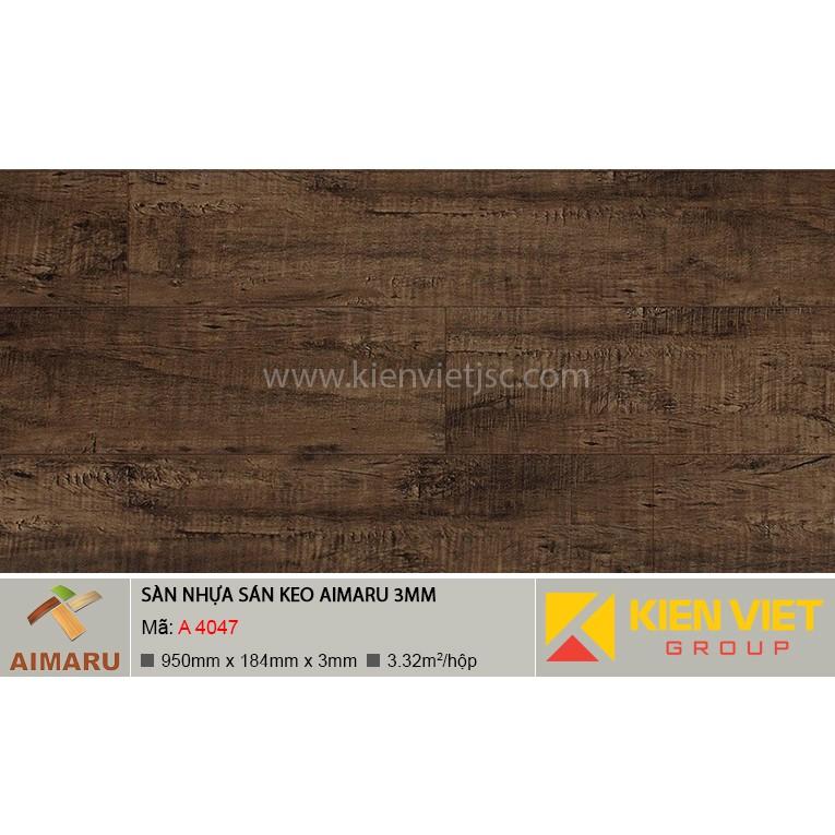 Sàn nhựa dán keo vân gỗ Aimaru A-4047 | 3mm