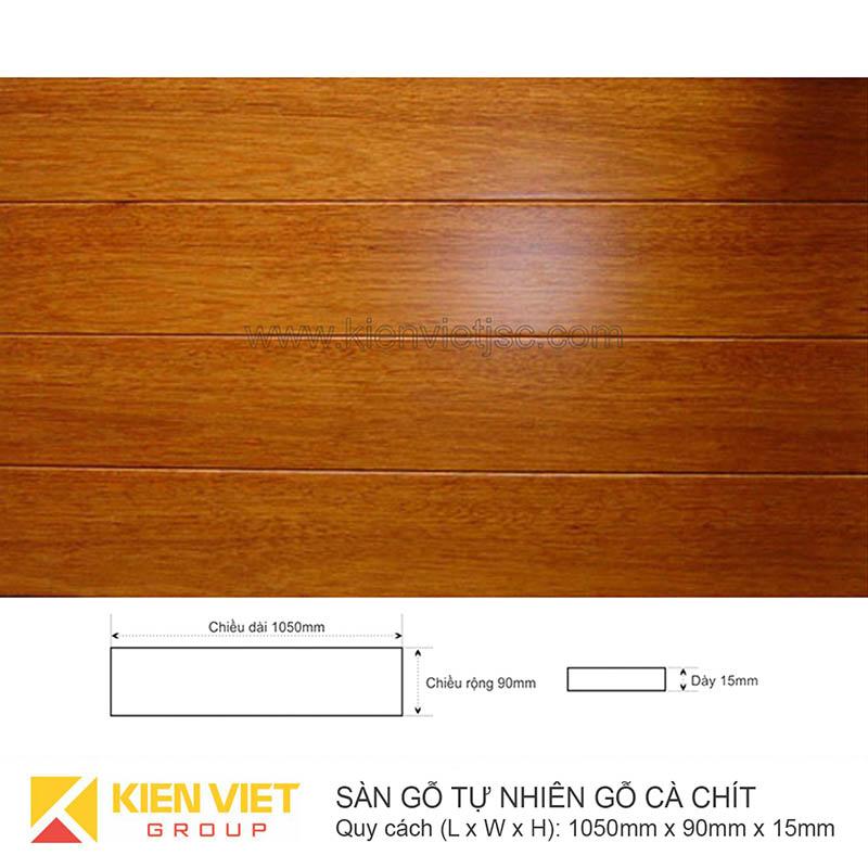 Sàn gỗ tự nhiên Cà chít 1050x15mm