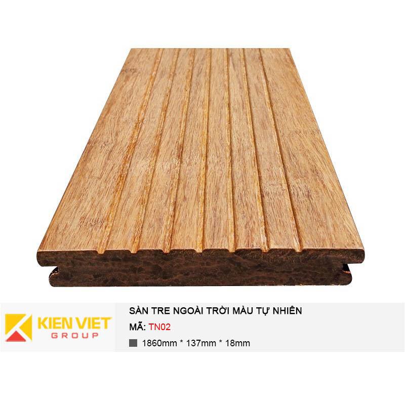 Sàn tre ngoài trời màu tự nhiên TN04