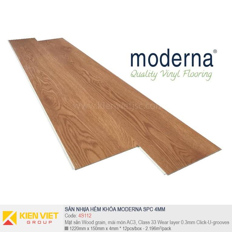 Sàn nhựa hèm khóa Moderna SPC 4S112 | 4mm