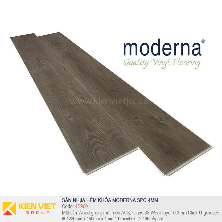 Sàn nhựa hèm khóa Moderna SPC 4S960 | 4mm