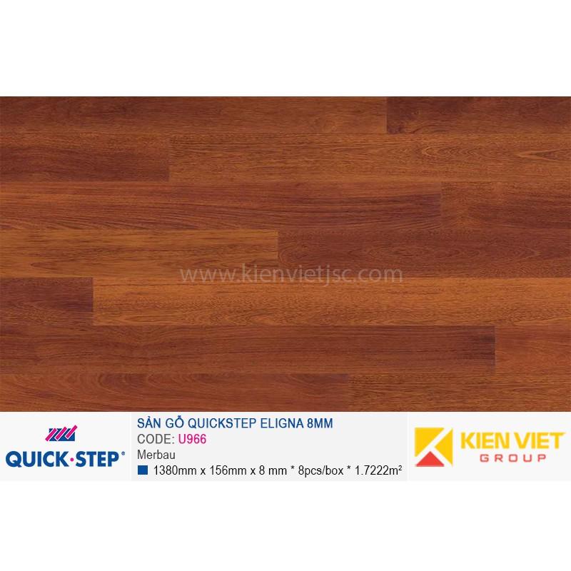 Sàn gỗ Quickstep Aligna Merbau U966 | 8mm