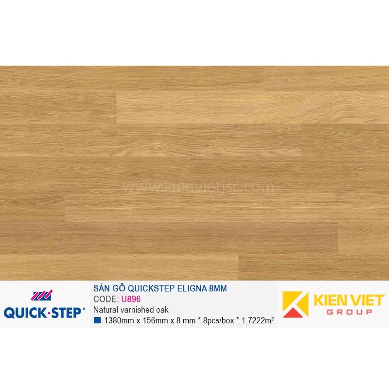 Sàn gỗ Quickstep Aligna Natural varnished oak U896 | 8mm