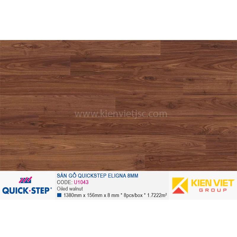 Sàn gỗ Quickstep Aligna Oiled walnut U1043 | 8mm