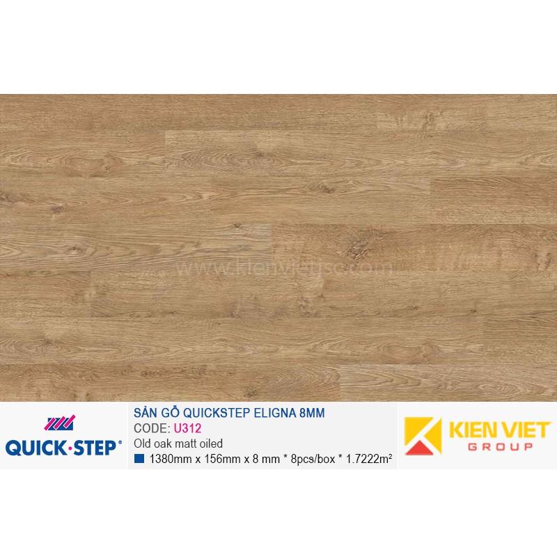 Sàn gỗ Quickstep Aligna Old oak matt oiled U312 | 8mm