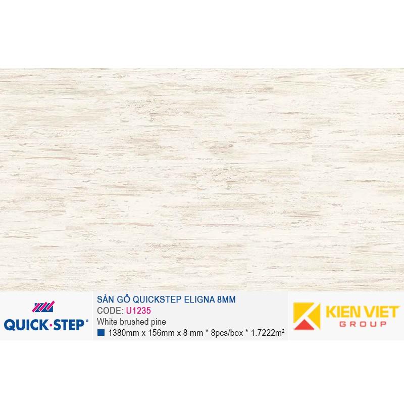 Sàn gỗ Quickstep Aligna White brushed pine U1235 | 8mm