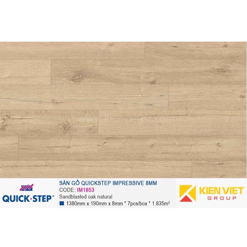 Sàn gỗ Quickstep Impressive Sandblasted oak natural IM1853 | 8mm