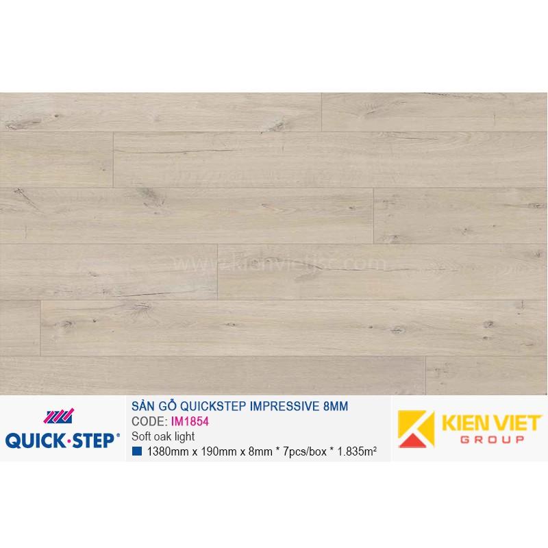 Sàn gỗ Quickstep Impressive Soft oak light IM1854 | 8mm