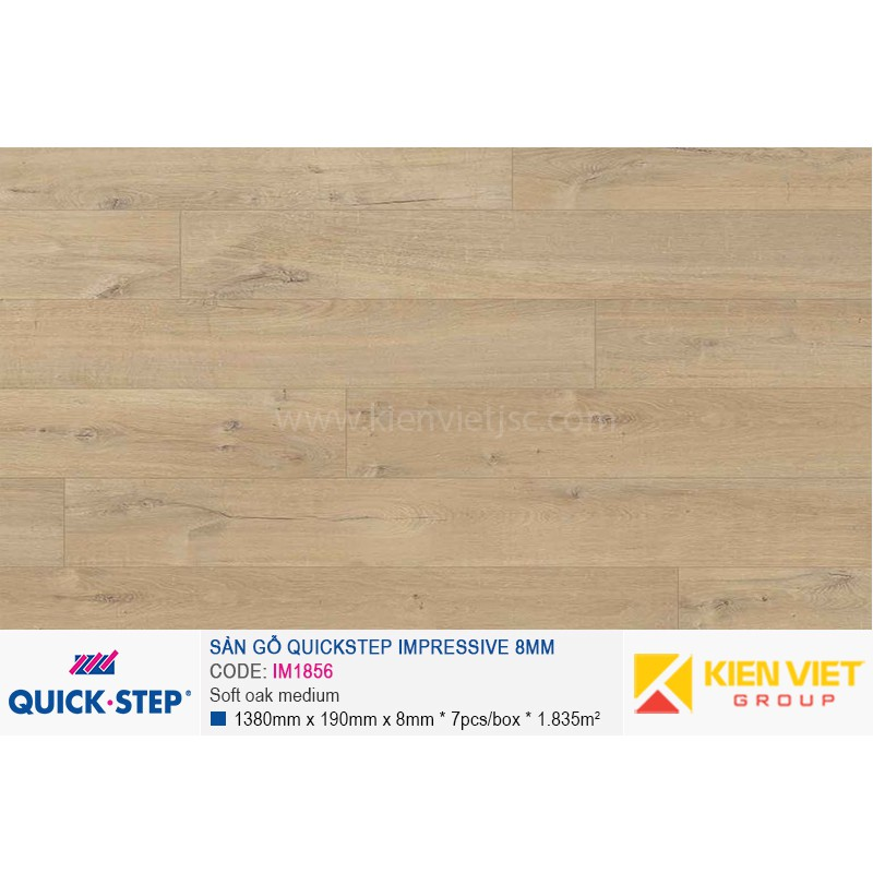 Sàn gỗ Quickstep Impressive Soft oak medium IM1856 | 8mm