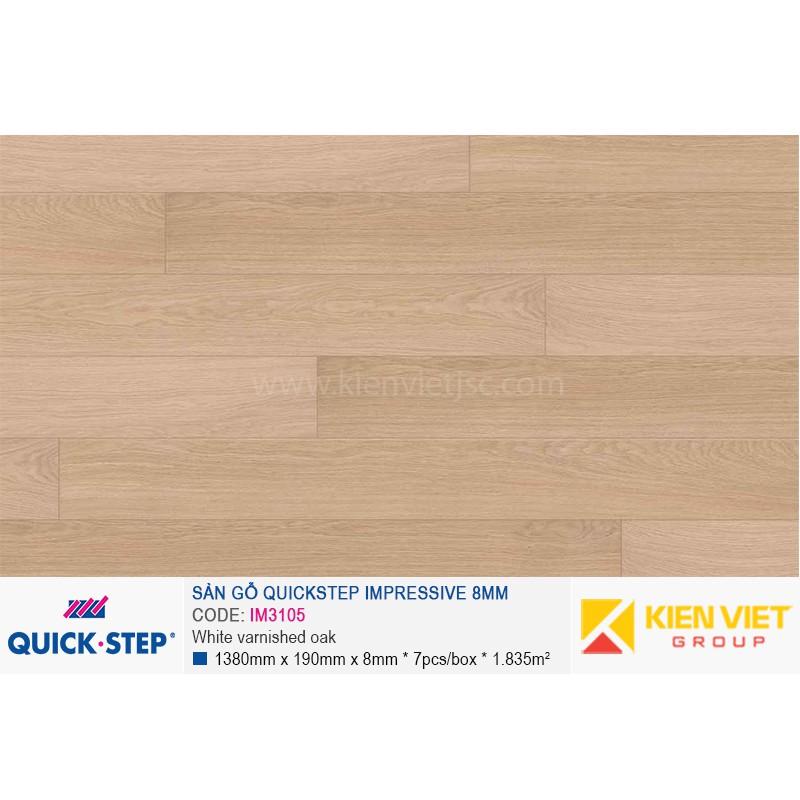 Sàn gỗ Quickstep Impressive White varnished oak IM3105 | 8mm