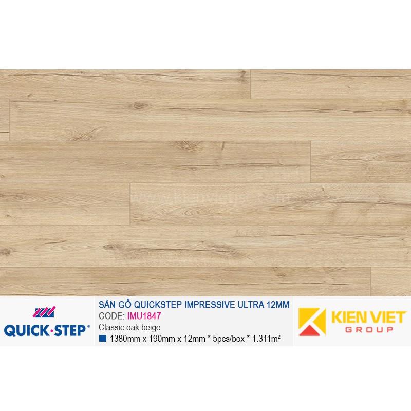 Sàn gỗ Quickstep Impressive Ultra Classic oak beige IMU1847 | 12mm