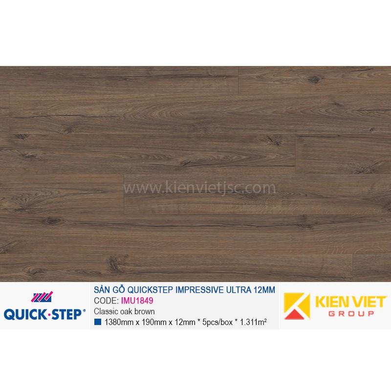 Sàn gỗ Quickstep Impressive Ultra Classic oak brown IMU1849 | 12mm