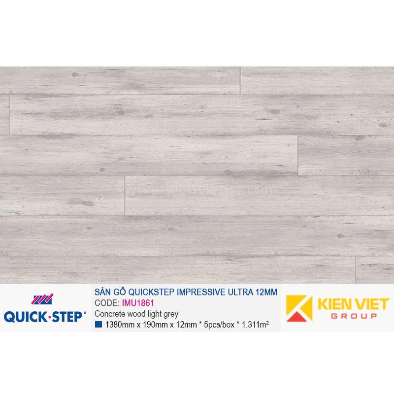 Sàn gỗ Quickstep Impressive Ultra Concrete wood light grey IMU1861 | 12mm